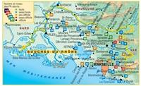 carte des randonnées bouche du Rhônes