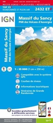 Image Carte IGN-2432ETR-Massif du Sancy / Auvergne (Résistante) 2432ETR-recto