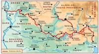 carte - Topoguide La Haute Provence par les Gorges du Verdon