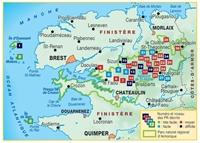 carte Le PNR d'Armorique... à pied® - Les Monts d'Arrée