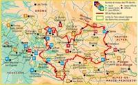 carte Le Parc Naturel régional des Baronnies provençales... à pied