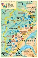 carte topoguide Franche-comté à pied