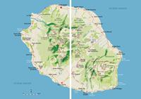 carte des randonnées Glénat la reunion Randonnée et Sentiers