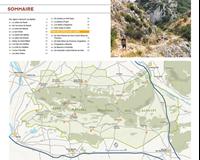 carte et liste de randonnée - Alpilles
