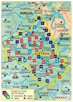 Carte Topoguide l'Aveyron à pied PR