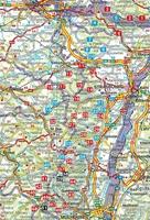 carte d'impantation des randonnées - guide rother vosges