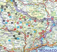 carte d'implantation des randonnées- Alpes-Maritimes - Rother