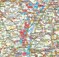 Alsace La Route des Vins – Sundgau-rother carte