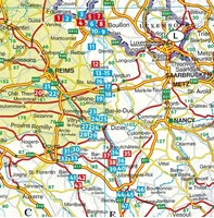 Champagne-Ardennes rother -carte