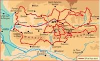 Tours dans le Luberon et les Monts de Vaucluse- plan