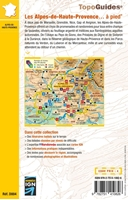 Topoguide les Alpes de Haute Provence - 4ème de couverture