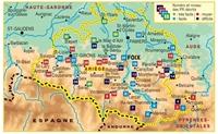 topoguide l'Ariège du piémont aux Pyrenées - plan