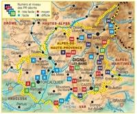 Topoguide les Alpes de Haute Provence - plan