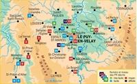 carte de couverture P43F Autour du Puy en Velay à pied