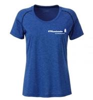 Image sur T Shirt technique bleu chiné FFRandonnée Femme - offre clubs et comités
