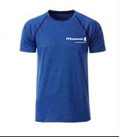 T Shirt technique bleu chiné FFRandonnée Homme