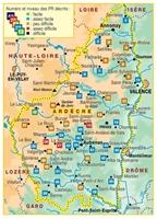 Topoguide l'Ardèche à pied- carte