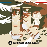 Image - Chaussettes TRAIL ULTRA crême - Collector DBDB