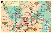 Topoguide carte P423 Saint etienne