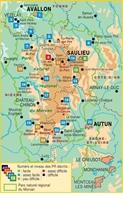 Topoguide le Parc Naturel Régional du Morvan... à pied -  carte