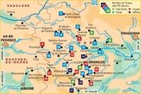 Carte La Provence Verte à pied - P834