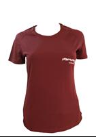 T Shirt technique bordeaux chiné FFRandonnée Femme